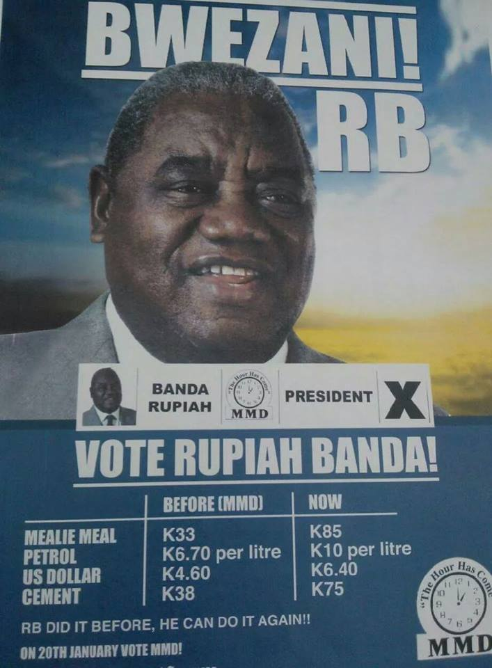 Photo: Rupiah Banda Promises Reduction of Mealie Meal Price from K85