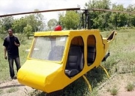 Photo: 24-Year-Old Nigerian Builds Helicopter From Junk