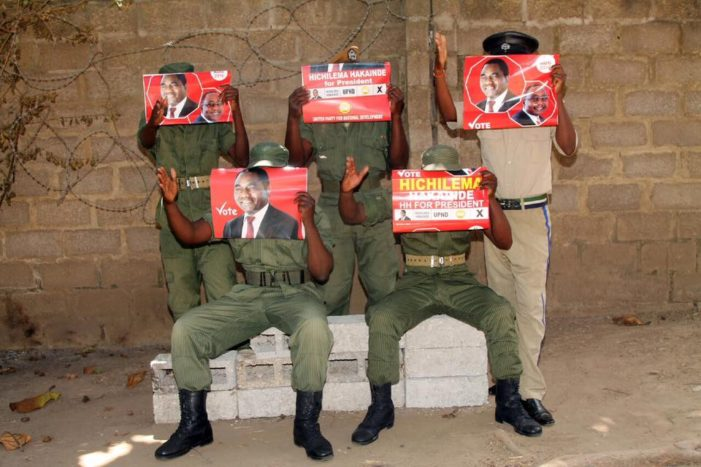 Inquiry To Investigate Police Officers Who Posed With UPND Posters Opened