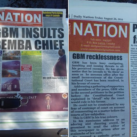 GBM Reacts To The Daily Nation Newspaper